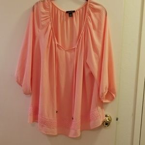 Alyx peach colored blouse 3X